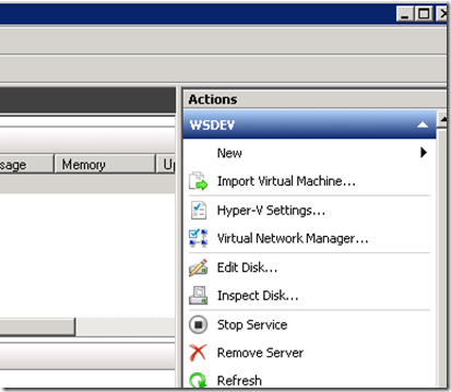 Import Virtual Machine, HyperV