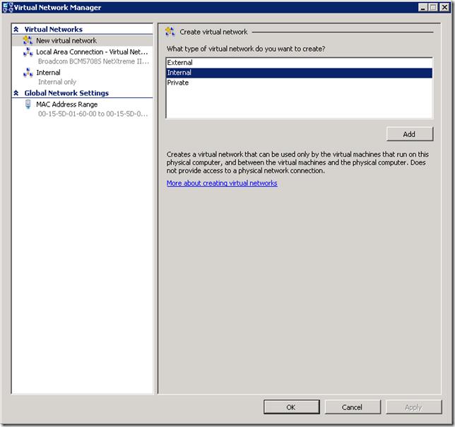 HyperV-InternalNetwork