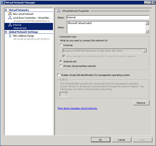 how to connect virtual machine to internet