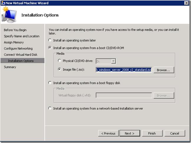 HyperV Installation Options