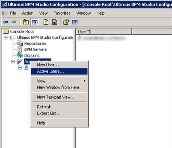 Ultimus BPM Studio Configuration