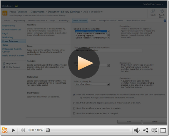Create Approval Workflow using SharePoint Designer 2010