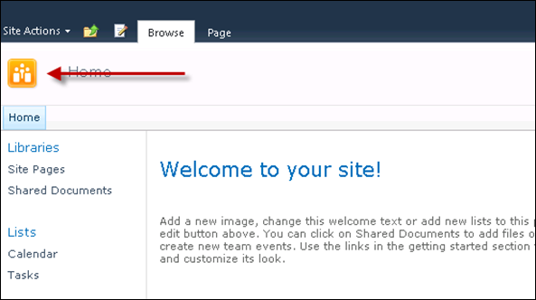 SharePoint 2010 Site Icon