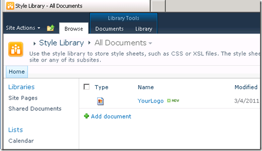 SharePoint 2010 Style Library