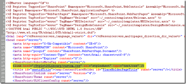 Custom SharePoint 2010 Global Navigation, Custom CSS
