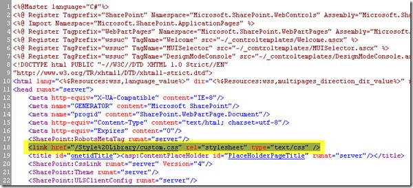 Custom SharePoint 2010 Global Navigation, Custom CSS