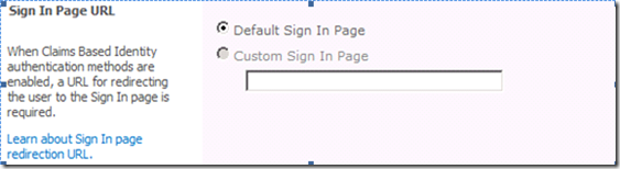 Sign In Page Url, SharePoint 2010