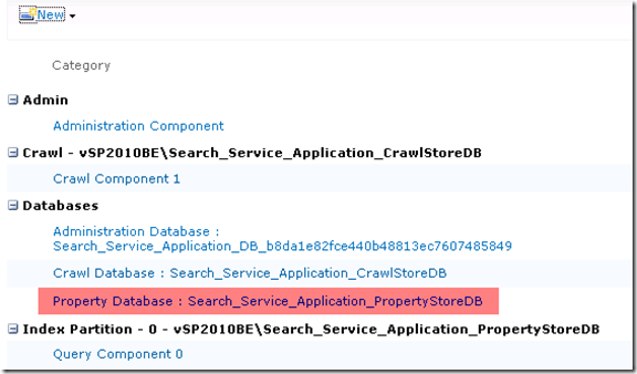 Search Service Applicaiton PropertyStoreDB SharePoint 2010 GUID Removed