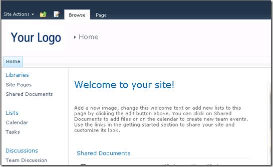 Adding Custom Logo for SharePoint 2010