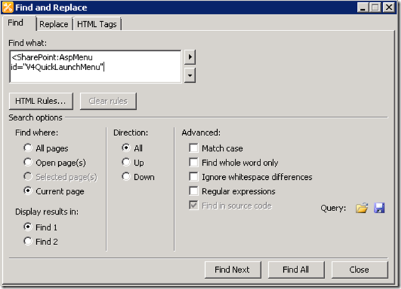 V4QuickLaunchMenu, SharePoint 2010