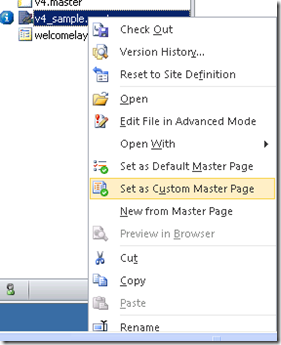 Setting up Custom Master Page in SharePoint 2010