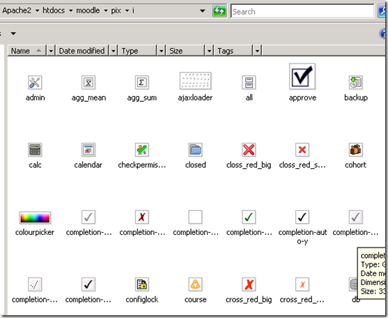 Replace standard Moodle 2.0 Icons