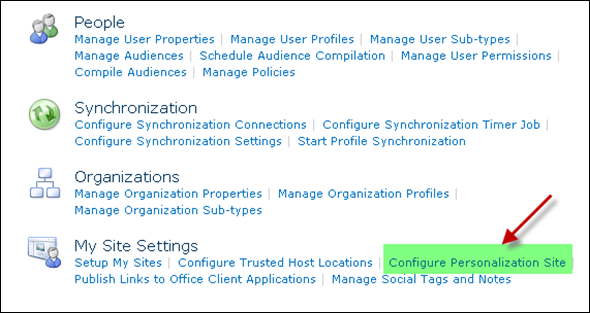 Adding Portal Home Link in SharePoint 2010 MySite: Step 3