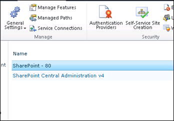 Select Web Application to enable Flash for SharePoint 2010
