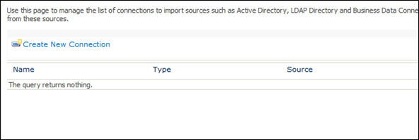 Importing User profile to SharePoint 2010 - Connection to Domain