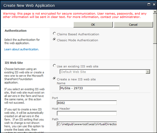 Setting up MySite in SharePoint 2010 - Authentication