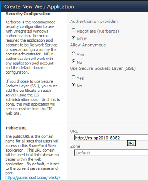 Setting up MySite in SharePoint 2010 - Security Configuration