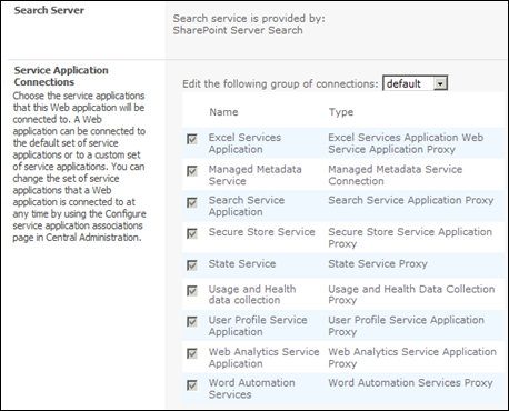 Setting up MySite in SharePoint 2010 - Service Application Connections