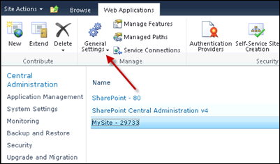 Configuring My Site in SharePoint 2010 - General Settings