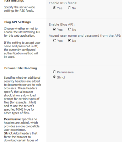 Configuring My Site in SharePoint 2010 - Blog API Settings