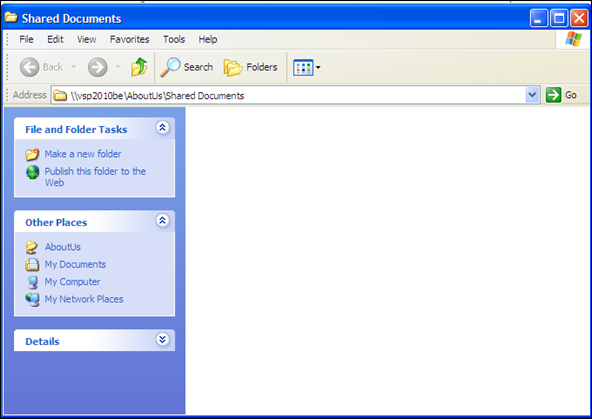 SharePoint 2010 Document Library in Explorer View