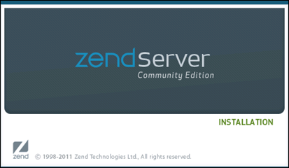 Zend Server CE installation wizard