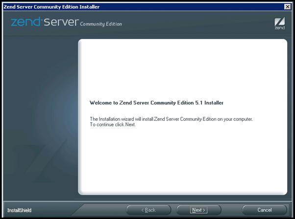 Zend Server Installation Wizard in Windows Server