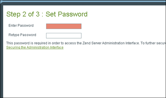 Zend Server Administration Interface