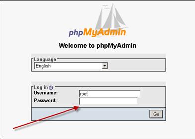 phpMyAdmin in Windows Server