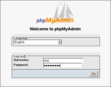 Login to phpMyAdmin in Windows 2008