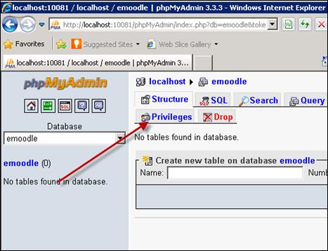 Creating accounts in phpMyAdmin