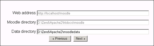 Moodle path in Apache2 server