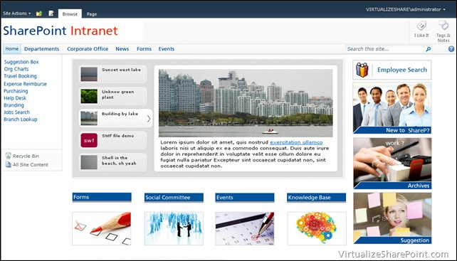 SharePoint 2010 Intranet Sample Design – Aryan Nava
