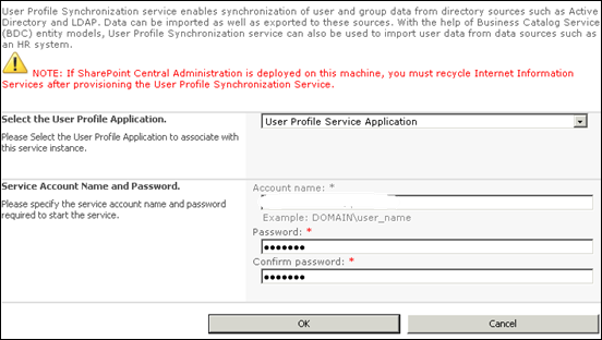 Importing User profile to SharePoint 2010 - Step 4