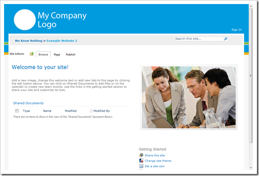SharePoint 2010 Sample Master Page