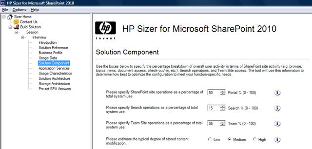 HP Sizer for Microsoft SharePoint – Aryan Nava