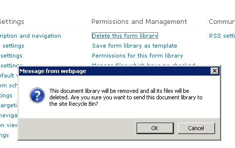 this document library will be removed in sharepoint 2010