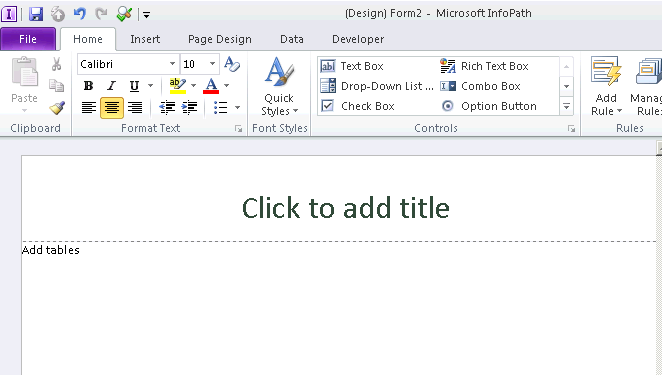 Creating form in InfoPath 2010 and publishing to SharePoint 2010 ...