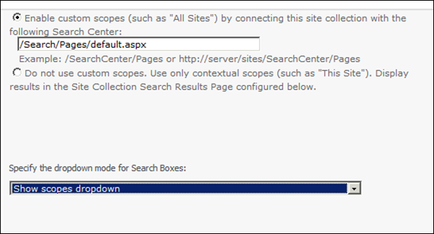 Enable Custom Search in SharePoint 2010