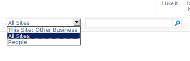 Dropdow mode for search boxes in SharePoint 2010