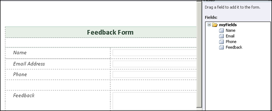 Adding Controls to InfoPath 2010 Form