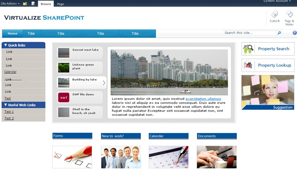 responses to sharepoint 2010 sample intranet design corporate