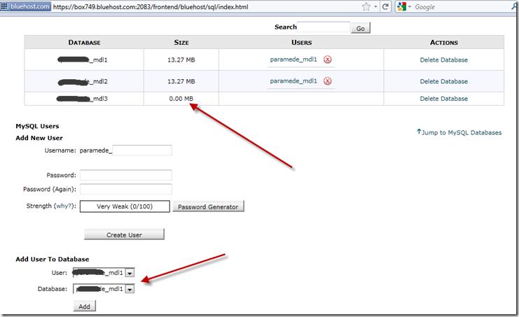 Create new database in MySQL