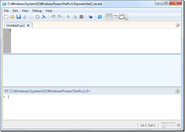 Editing Power Shell script in Windows 7 using Powershell_ise.exe