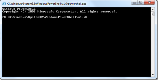 Running Powershell scripts in Windows 7 using Power Shell