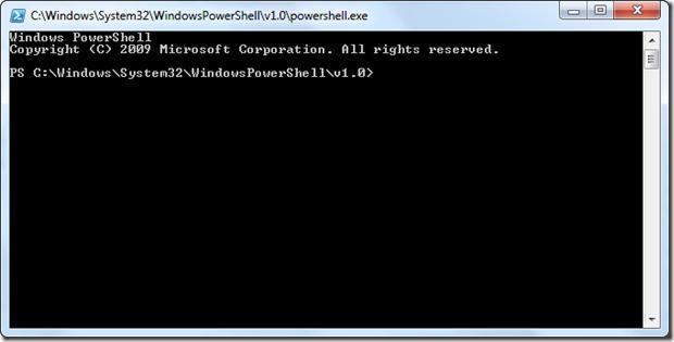 Running Powershell scripts in Windows 7 using Power Shell