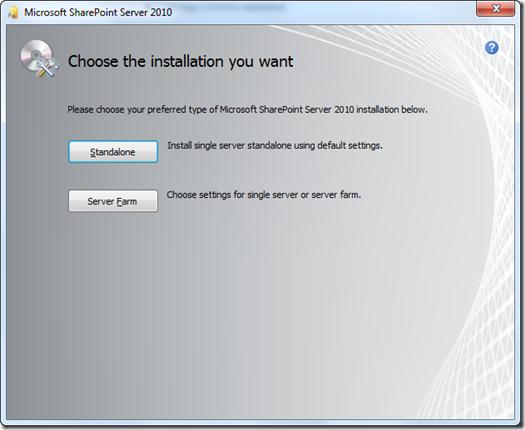 Server Farm installation in Windows 7
