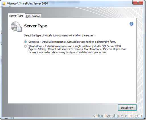 SharePoint Complete Installation in Windows 7