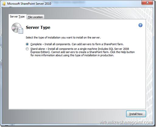 SharePoint Complete Installation in Windows 7