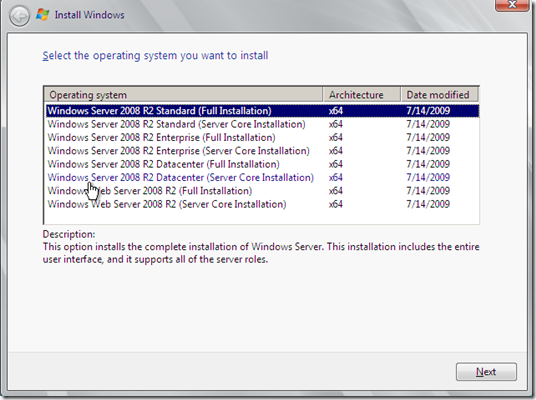 Windows Server 2008 R2 Standard Full Installation